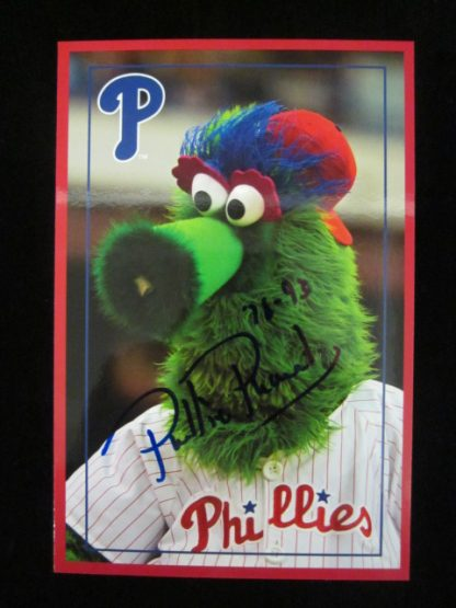 Philadelphia Phillies Phanatic Autographed Postcard