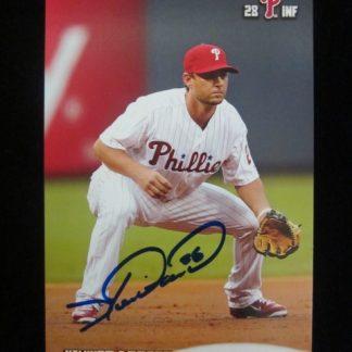 Philadelphia Phillies Kevin Frandsen Autographed Postcard