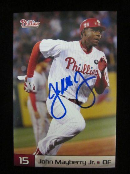 Philadelphia Phillies John Mayberry Jr. Autographed Postcard