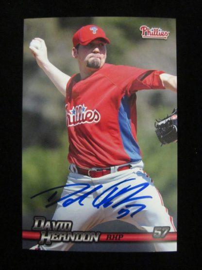 Philadelphia Phillies David Herndon Autographed Postcard