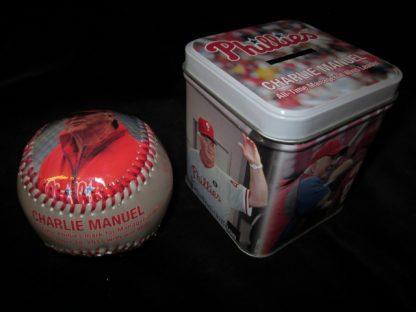 Philadelphia Phillies Charlie Manuel Commerative Ball/Tin