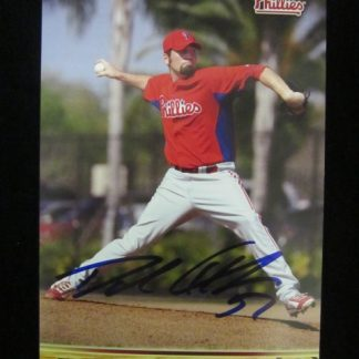 Philadelphia Phillies David Herndon Autographed Postcard