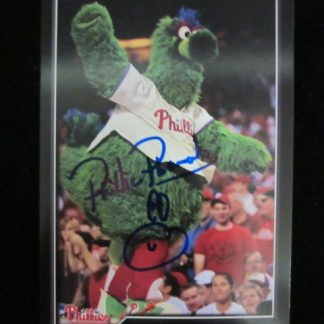 Philadelphia Phillies Phanatic Autographed Postcard