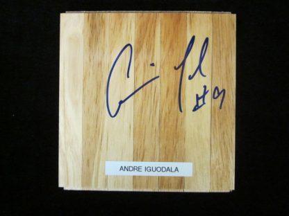 Philadelphia 76ers Andre Iguodala Autographed Floor Board