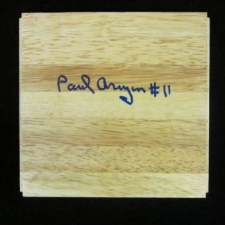 Philadelphia Warrior/Villanova Wildcat Great Paul Arizin Autographed Piece of Floor