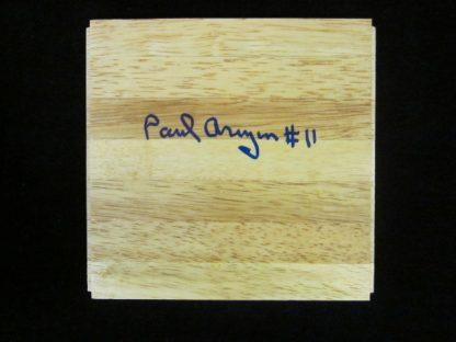 Philadelphia Warrior/Villanova Wildcat Great Paul Arizin Autographed Piece of Floor