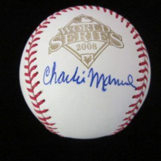 Philadelphia Phillies Charlie Manuel Autographed Baseball